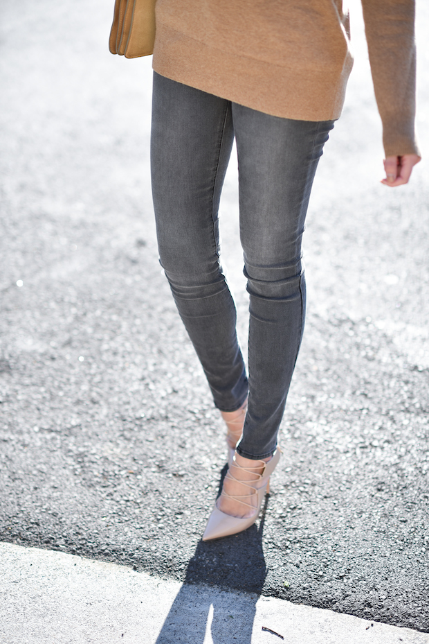 jbrand gray jeans everlane cashmere turtleneck