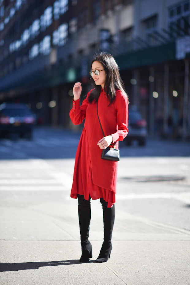 red-dress-over-the-knee-boots
