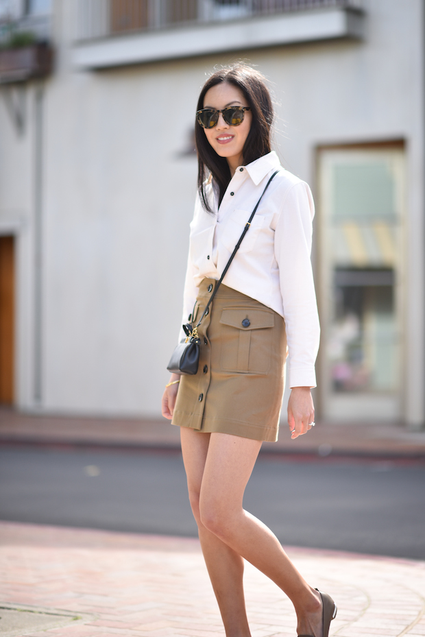 spring-outfit-button-up-skirt