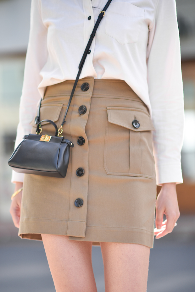 spring-outfit-button-up-skirt-mini-bag