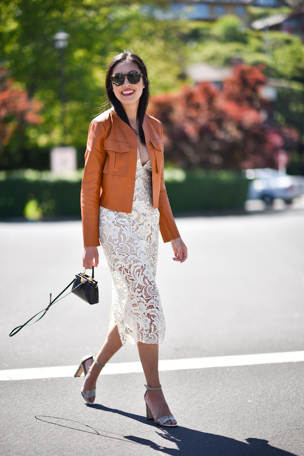 lace-dress-for-spring-leather-cropped-jacket