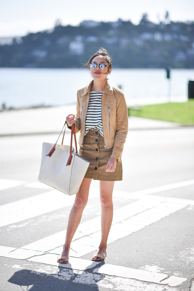 spring-outfit-sandals-mini-skirt-suede-jacket-2