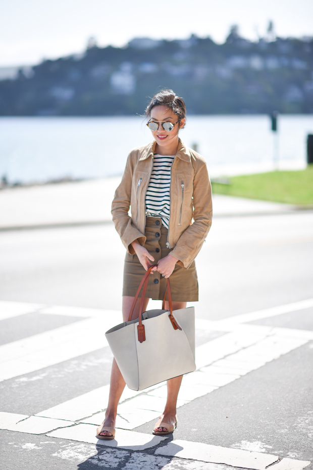 spring-outfit-sandals-mini-skirt-suede-jacket