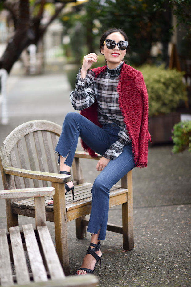 9to5chic-intermix-plaid-top-4