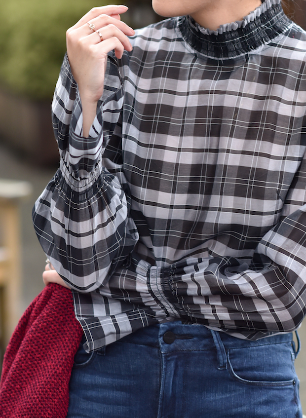 9to5chic-intermix-plaid-top-5