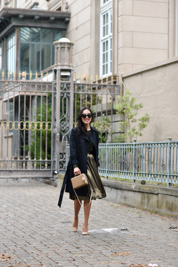 ann-taylor-trench-coat-pleated-skirt