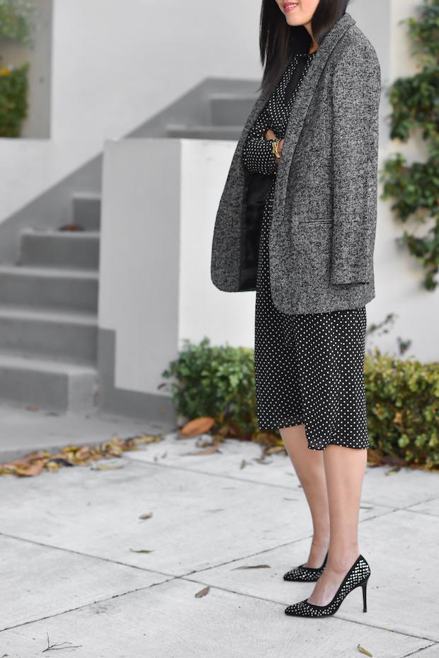 sezane-fall-polka-dot-dress-blazer-1
