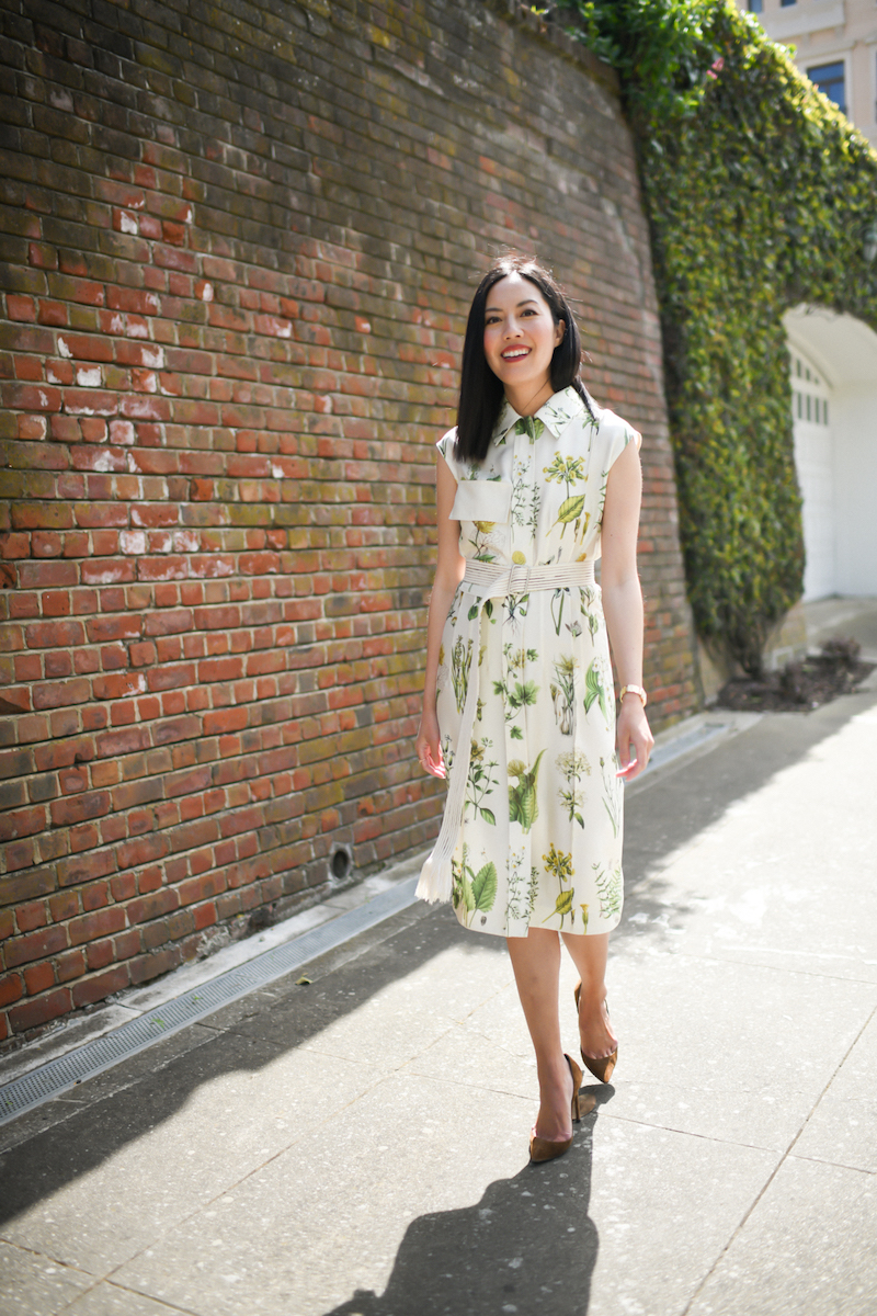 Floral shirtdress by Ferragamo